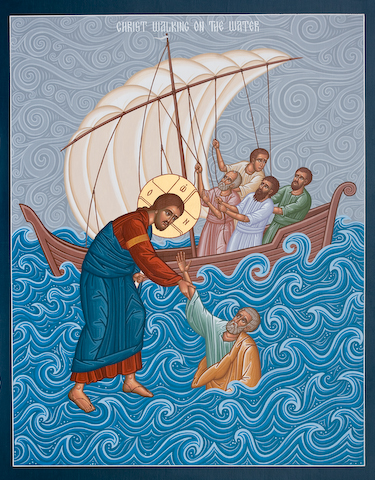 Christ walking on water